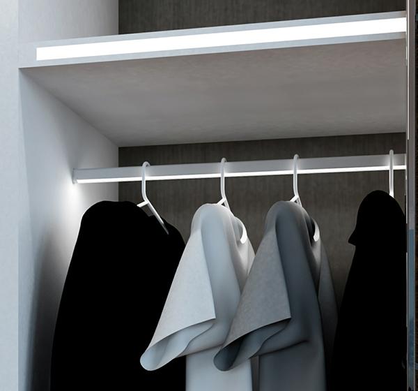 Thanh LED định hình AP3015 làm móc treo quần áo