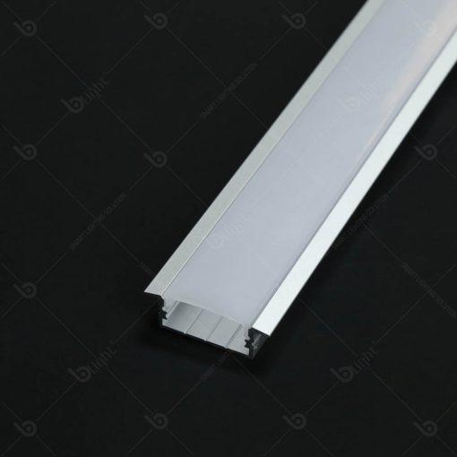 Thanh nhôm LED chữ T phổ biến cho cách lắp âm