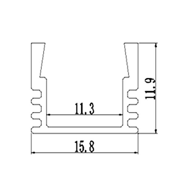Thanh nhôm định hình LED 1612